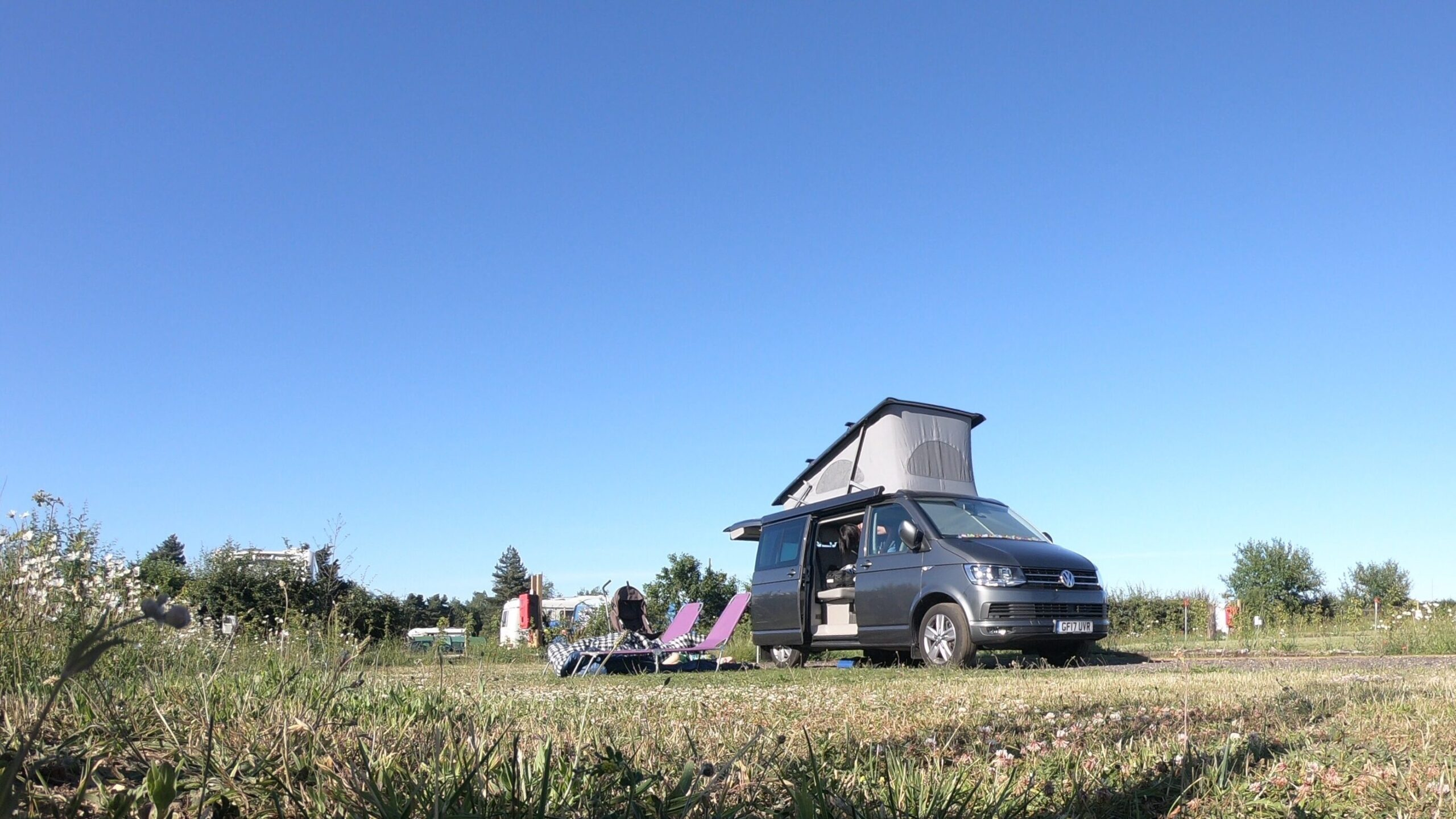 VW Campervan on a weekend away